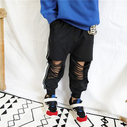 BaBy pants holes online shopping - kids designer clothes boys hole Pants children Casual sport Trousers Spring summer Boutique baby Clothing colors C6589