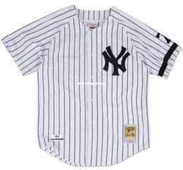 Discount don mattingly jersey Don Mattingly New York #23 Mitchell & Ness Retro 1995 Home Jersey