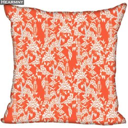 knit pillow patterns NZ - Custom Decorative Geometric Pattern Flowers Pillowcase Dragon Ball Z Square Zippered Pillow Cover 35X35,40x40,45x45cm(One Side)