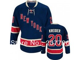 new york rangers jerseys UK - 2014 NWT New York Rangers Chris Kreider Navy blue Jersey #20 Ice Hockey Jerseys 3rd Third Fashion All Stitching Good Quality
