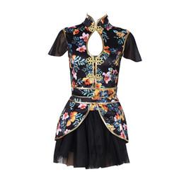 Print Dance Costume Nightclub Singers Rave Clothes Women DJ Jazz Team Wear  Oriental Dance Outfit Chinese Dancing Dress DC1029 2081a65e1e36