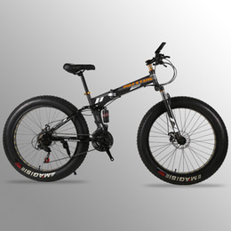 26 folding bikes online shopping - bicycle Folding Bicycle Mountain Bike inches Speed x4 quot fat road bike Front and Rear Mechanical Disc Brake