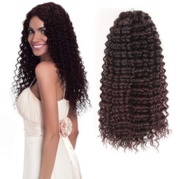synthetic braiding hair free 2019 - Free shipping 1Piece Marly Crochet Hair Kinky Curly Crochet Braids Deep WaveTwist Crochet Braiding Hair Extensions For B