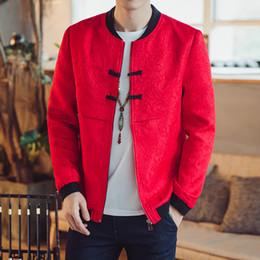 $enCountryForm.capitalKeyWord Australia - Chinese Style Floral Jacket Men Fashions Hip Hop Streetwear Bomber Jacket Men Coat Coat