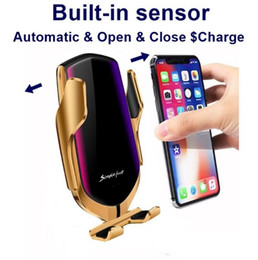 $enCountryForm.capitalKeyWord Australia - R1 Wireless Car Charger Automatic Clamping 10W Fast Charging For iphone Samsung Vents Phone Holder With Box