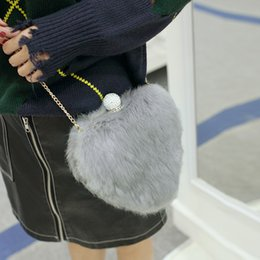 $enCountryForm.capitalKeyWord NZ - Lucky2019 Trend Heart-shaped Small Bag Rabbit's Hair Leather And Fur Package Hand Bill Of Lading Shoulder Satchel Woman