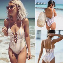 $enCountryForm.capitalKeyWord NZ - One Piece Swimsuit Women Swimwear 2019 Summer Sexy Bandage Bathing Suit Backless Monokini Bodysuit Beach Wear Swim S~xl Y19072501