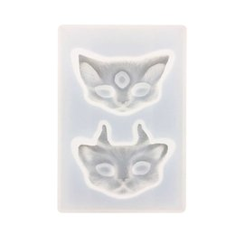 Chinese  Silicone Cat Head Mold Manual Molds Mirror Surface Eco Friendly Transparent Baking Cake Mould Rectangle Universal 4 5dya J1 manufacturers