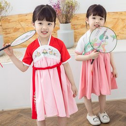 $enCountryForm.capitalKeyWord NZ - Girls Hanfu skirt Chinese wind children's clothing 3 baby Tang suit girl costume princess dress Liuyi performance clothing