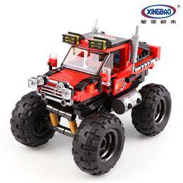 Kids Block Set Australia - New Car Series The Super Big Foot Car Set Building Blocks Bricks Compatible Legoing Technic Toys For Kids Educational Gifts