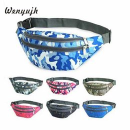 Wholesale Pillow Packs Australia - Fashion Waterproof Camouflage Print Waist Bags 3 Pocket Antitheft Women Fanny Packs Belt Bag Money Travelling Mountaineering