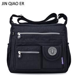 JINQIAOER Nylon impermeabile donne borsa a tracolla casual borse donna di alta qualità femminile multi-tasca cerniera borsa messenger Bolsas # 94495 in Offerta