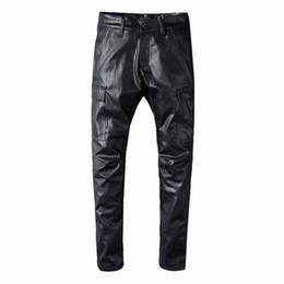 $enCountryForm.capitalKeyWord Australia - SS19 New model AI572 Arrive Skinny Water wash Motorcycle Jeans Desinger single cow thickened Slim paris quality plugs Men jeans