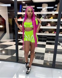 $enCountryForm.capitalKeyWord Australia - Europe And The United States Explosion Models Summer New Women's High Waist Reflective Stitching Solid Color Sports Suit Fitness Body