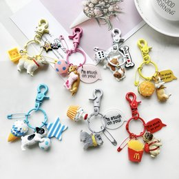 $enCountryForm.capitalKeyWord Australia - Lovely Resin Animal Pet Dogs Key Ring Schnauzer Welsh Corgi Keychains Gift For Woman Jewelry Key Chain For Dog Lover