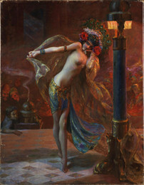 $enCountryForm.capitalKeyWord Australia - Dance of the Seven Veils by Gaston Bussiere Home Wall Art Decor Handpainted &HD Print Oil Painting On Canvas Wall Art Canvas Pictures 190831