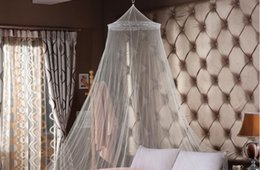 Discount netting curtain dome - Round Hanging Mosquito Net Girls Room Decor Anti Mosquito Bed Canopy Bed Curtain Tent For Adults