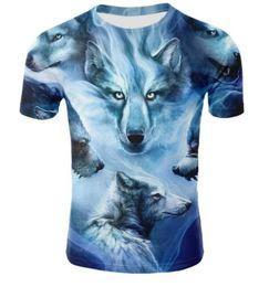 596d5f979 Cheap 3d Tee Shirts Australia - Sondirane Fashion 3D Animal Wolf Funny  T-shirt Summer