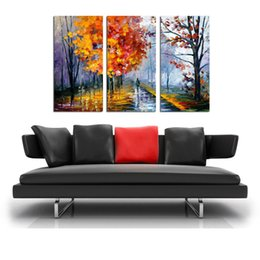 $enCountryForm.capitalKeyWord Canada - Oil Painting HD Print Leonid Afremov Abstract Autumn Trees On Canvas Modern Decoration Wall Art Without Framed   With framed