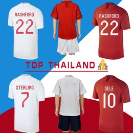 4a9b1e1635f 9 Harry KANE 7 STERLING 10 DELE 2018 World Cup Soccer Jersey VARDY Stones  Arnold Delph Football Shirt S-2XL