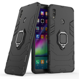 $enCountryForm.capitalKeyWord Australia - Hybrid Armor Case For Huawei Honor Note 10 Cover Hard Shield Soft Silicone Edge with Metal Finger Ring Holder Stand Foldable