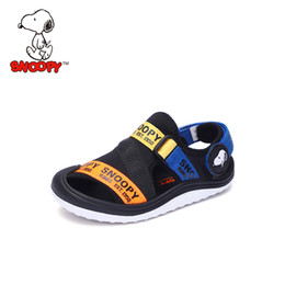 Beach Shoes For Boys Australia - Snoopy Summer Beach Sandals Kids Sandals boys Leather Summer Shoes Casual Sport for Boy Toddle 26-35#