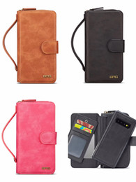 $enCountryForm.capitalKeyWord UK - Magnetic Detachable Flip Leather Wallet Chain Pouch Case Wristband Handbag Holster Phone Shell Retro Purse for iPhone XS Max XR Samsung S10
