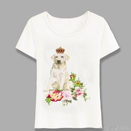 Designs Girls Shirts New Australia - New Summer Fashion Women's Tops Dog King Design T-shirt Soft Fabric Casual T Shirt Funny Animal Printed Girl Tees Harajuku