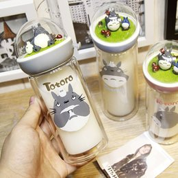 $enCountryForm.capitalKeyWord Australia - Creative My Neighbor Totoro Micro Landscape Double Wall Glass Water Bottle Anime Bottle For Water Gifts Y19070303