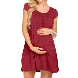 elegant winter clothes for women Canada - Women Maternity Dresses Elegant Casual Short Sleeve For Feeding Summer Nursing Dress Pregnant Clothes Vedtidos Para Mujer 19a25