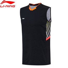 05cc2d9375f0fd (Clearance) Men Badminton Vest AT DRY Slim Fit Polyester Spandex LiNing  Breathable Sleeveless T-Shirts AVSN029 MBJ117