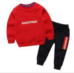 Microfiber Sport Clothes Australia - Baby girl boy Clothes Suits Casual Brand Designer Children Suit Sweatshirts + Sports pants Kids Tops Trousers