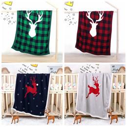 Children quilt online shopping - Baby Milestone Blankets Unicorn Christmas Plaid Wraps Knitted Stroller Quilt Deer Lattice Souvenir Air Condition Nap Blanket TTA2148