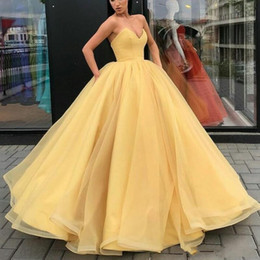 cb3838fe9d 2019 Colorful Gold Wedding Dresses Ball Gown Vintage Design Sweetheart Neck  Princess Style Puffy Tulle Bridal Gowns Custom Plus Size