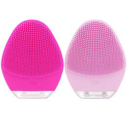ElEctric vibration machinEs online shopping - Mini portable silicone electric facial cleansing brush Face Massager cleansing machine Vibration Mini face washing Cleaner Brush
