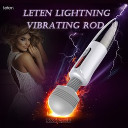 Nipple Masturbation Toys Australia - LETEN Lightning Massager vibrator for female masturbation, huge head AV Magic Wand Nipple Clitoris Stimulator sex Toys for Woman C18112801