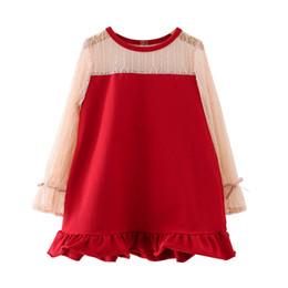 $enCountryForm.capitalKeyWord UK - brand sweet lovely Spring new baby princess dress western lace long sleeve dress girl bow cute fishtail