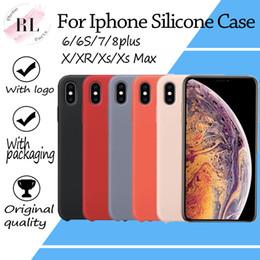 Caso de silicone OEM para o iphone 6 7 8 plus X XS X Max XR silicone caso capa com LOGOTIPO e pacote de varejo em Promoção