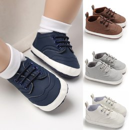 Baby Girl Summer Canvas Shoes Australia - Cute Toddler Kids Sneakers Baby Boy Girl Soft Sole Crib Shoes Lace Up Canvas Spring Summer Solid Boys 0-18Months