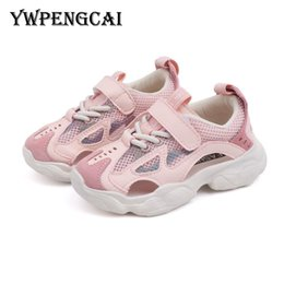Sneakers Cut Out Australia - YWPENGCAI 2019 Summer Kids Sandals Cut-outs Air Mesh Sneakers Unisex Boys Girls Genuine Leather Casual Sport Sandals #9D280637