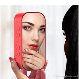 $enCountryForm.capitalKeyWord Australia - Bluetooth 5.0 Speaker Portable Audio Player Wireless Mirror Speakers Music Sound Box 2000mAh Large Battery With Alarm Clock LED Mirror