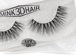 Real Mink False Eyelashes Australia - 3D A series 100% Real mink Eye Lashes Thick false Eyelashes a pair of false eyelashes with Crystal box