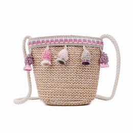 Bohemian Bags Australia - Hollow Out Summer Women Straw Beach Shoulder Bag Tassel Designer Bohemian Ladies Woven Knitting Handmade Female Crossbody Bags