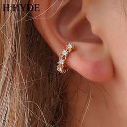 Wholesale H HYDE Gold Color Clip Earrings Without Ear Piercing Brinco Ear Cuff On Earrings For Women Crystal Jewelry boucle d oreille DY