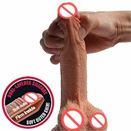 $enCountryForm.capitalKeyWord Australia - Super Soft Silicone Dildo Realistic Suction Cup Dildo Male Artificial Penis Dick Female Masturbator Adult Sex Toys For Women