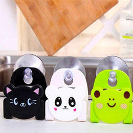 kitchen suction cup sponge holder NZ - Kitchen Dining & Bar Rack Carton Dish Cloth Sponge Holder with Suction Cup Home Decor Dinning Room Cleaning Tools Eco-Friendly