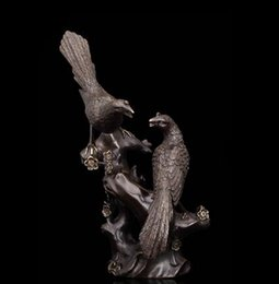 bronze decor Australia - Arts Crafts Copper 00% Pure Bronze Magpies figurines Lucky Bird Statue for home decor wildlife sculpture fengshui wedding gift
