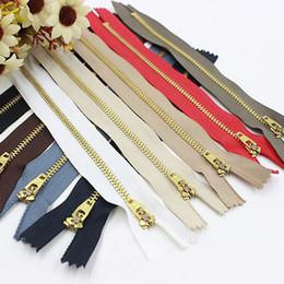 50 piezas de costura Copper cremalleras en la ropa No. cierres metálicos de alto grado 4 18cm pantalones vaqueros de longitud especiales con cerradura de alta calidad en venta