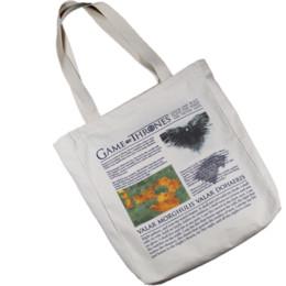 $enCountryForm.capitalKeyWord Canada - Canvas Messenger Handbag Shoulder Bag A Song Of Ice and Fire Casual Cross Body Bag Printing School Book Gift