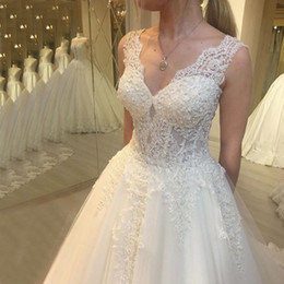 $enCountryForm.capitalKeyWord Australia - Sexy Spaghetti Straps A Line Tiered Skirt White Wedding Dresses 2019 New Real Image Custom Made Plus Size High Quality Bridal Gowns Cheap